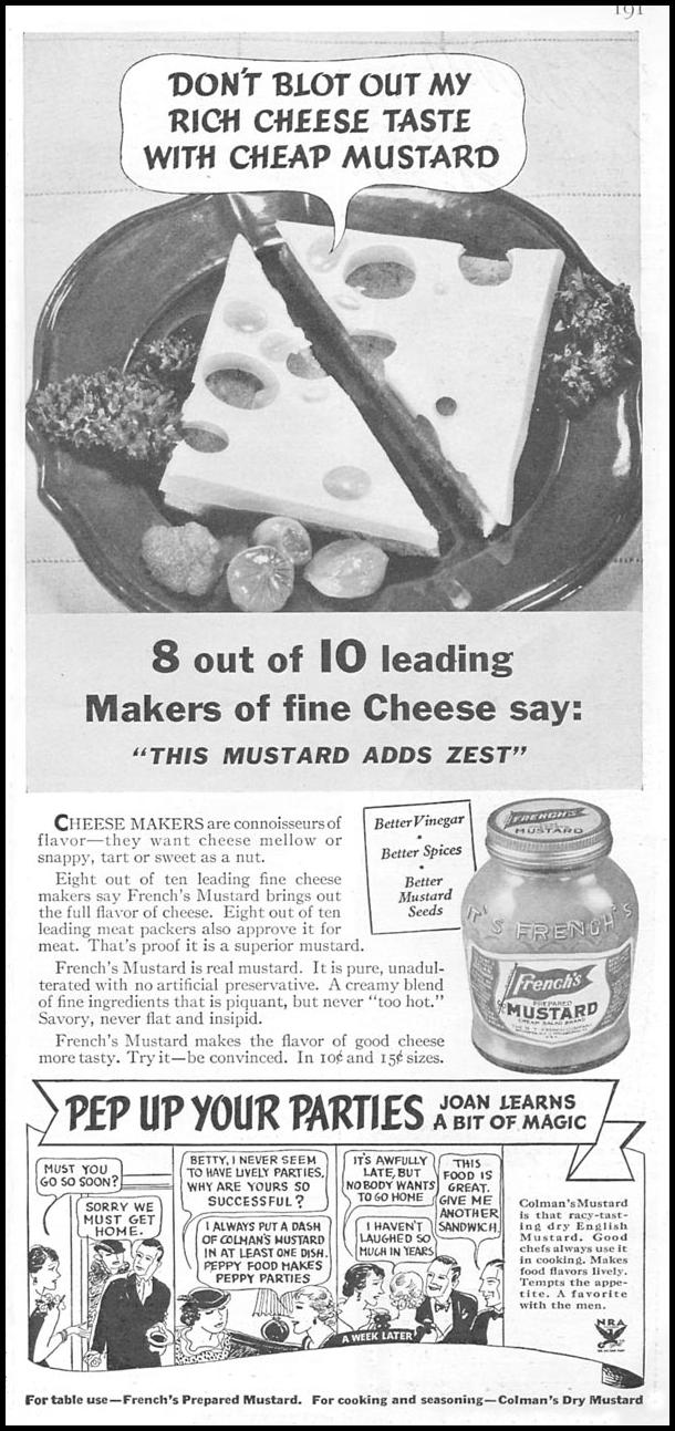 FRENCH'S PREPARED MUSTARD GOOD HOUSEKEEPING 06/01/1935 p. 191