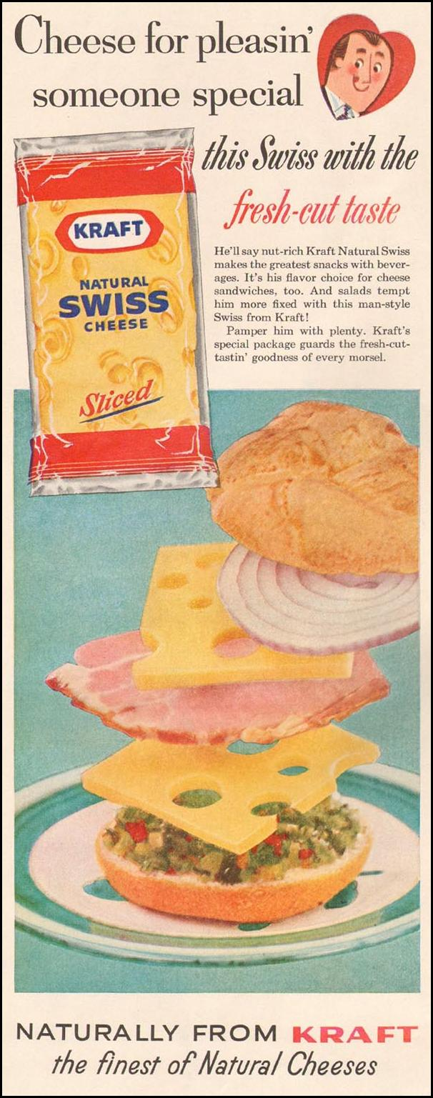 KRAFT NATURAL SWISS CHEESE LIFE 10/05/1959 p. 118