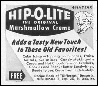 MARSHAMALLOW CREME WOMAN'S DAY 10/01/1949 p. 150