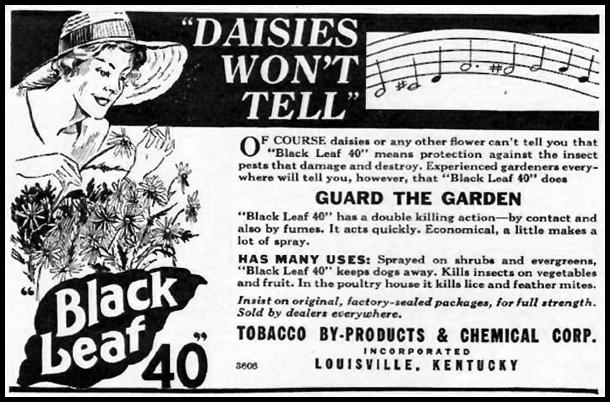 BLACK LEAF 40 INSECTICIDE BETTER HOMES AND GARDENS 05/01/1936 p. 125