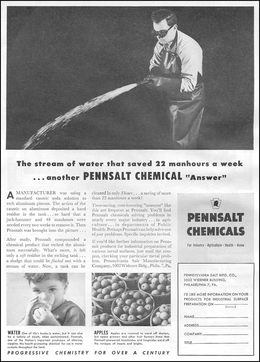 PENNSALT CHEMICALS NEWSWEEK 08/20/1951 p. 61