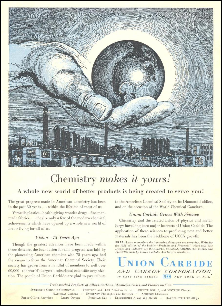 AMERICAN CHEMICAL SOCIETY NEWSWEEK 09/03/1951 p. 47