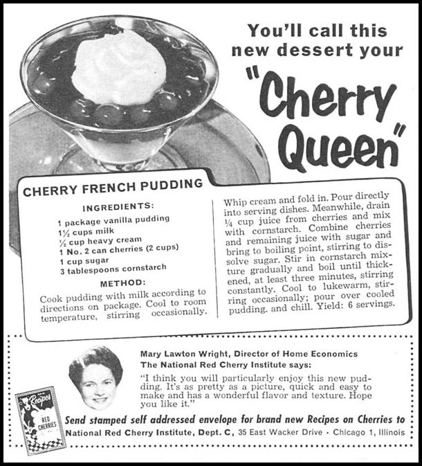 RED CHERRIES WOMAN'S DAY 04/01/1956 p. 104