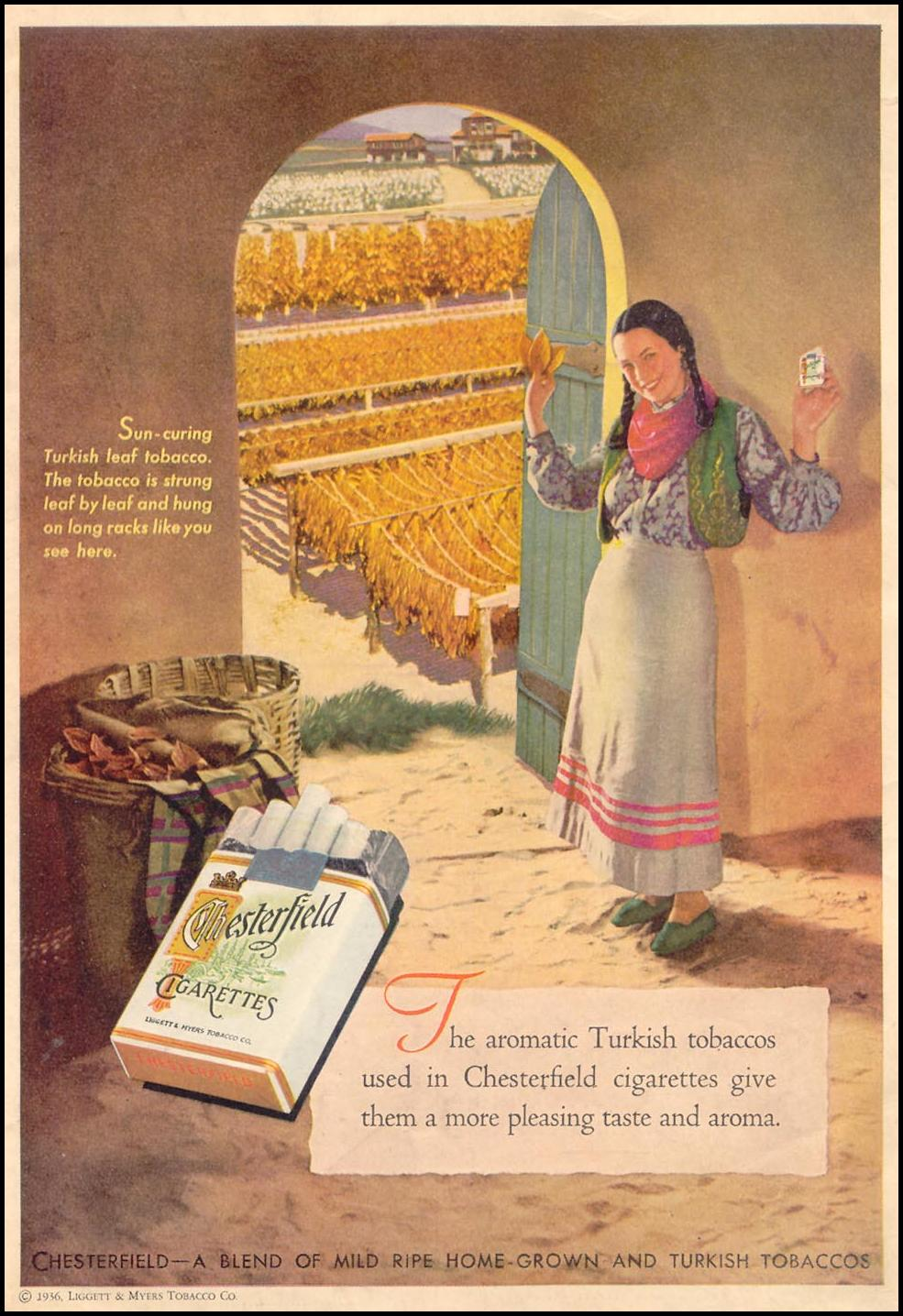 CHESTERFIELD CIGARETTES LIBERTY 02/01/1936 BACK COVER