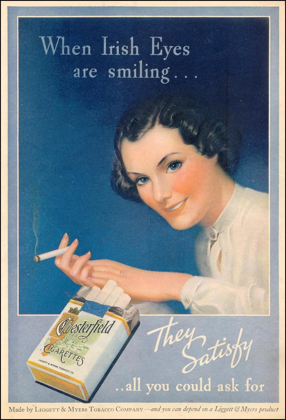 CHESTERFIELD CIGARETTES LIBERTY 08/08/1936 BACK COVER