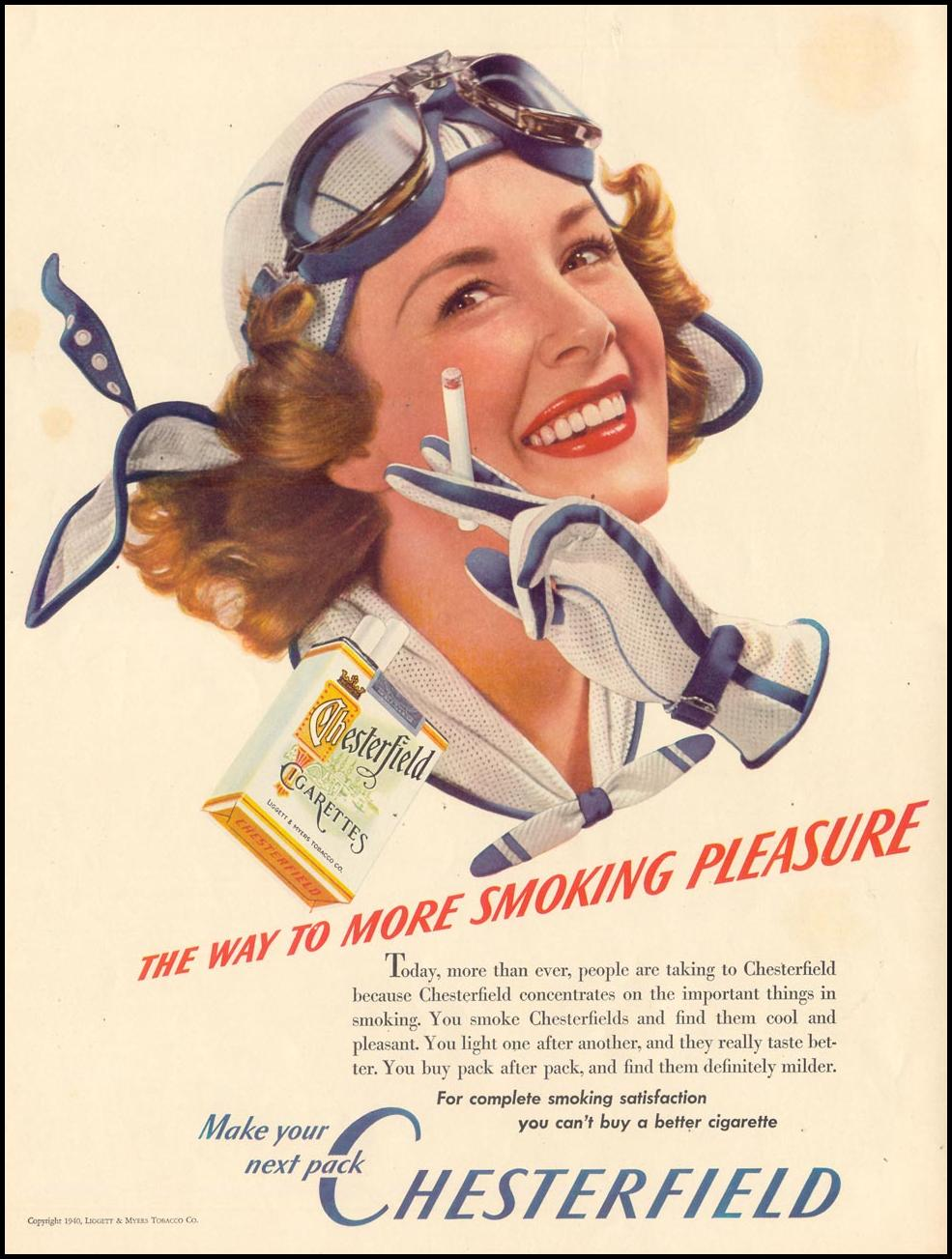 CHESTERFIELD CIGARETTES LIFE 09/30/1940