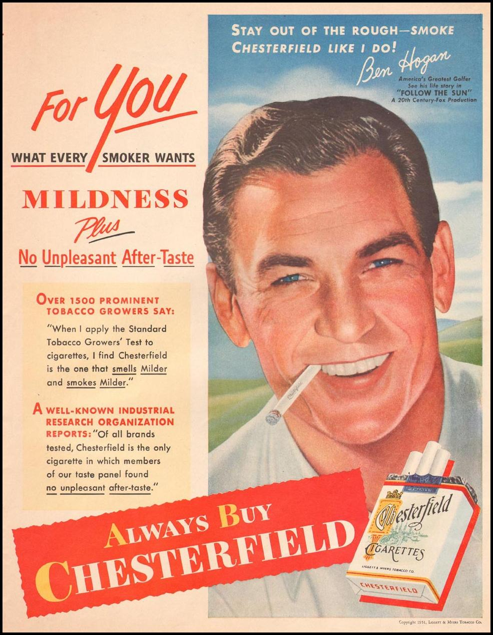 CHESTERFIELD CIGARETTES LIFE 07/02/1951