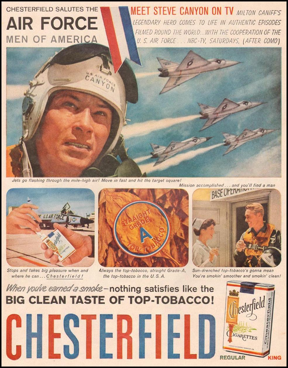 CHESTERFIELD CIGARETTES LIFE 09/15/1958