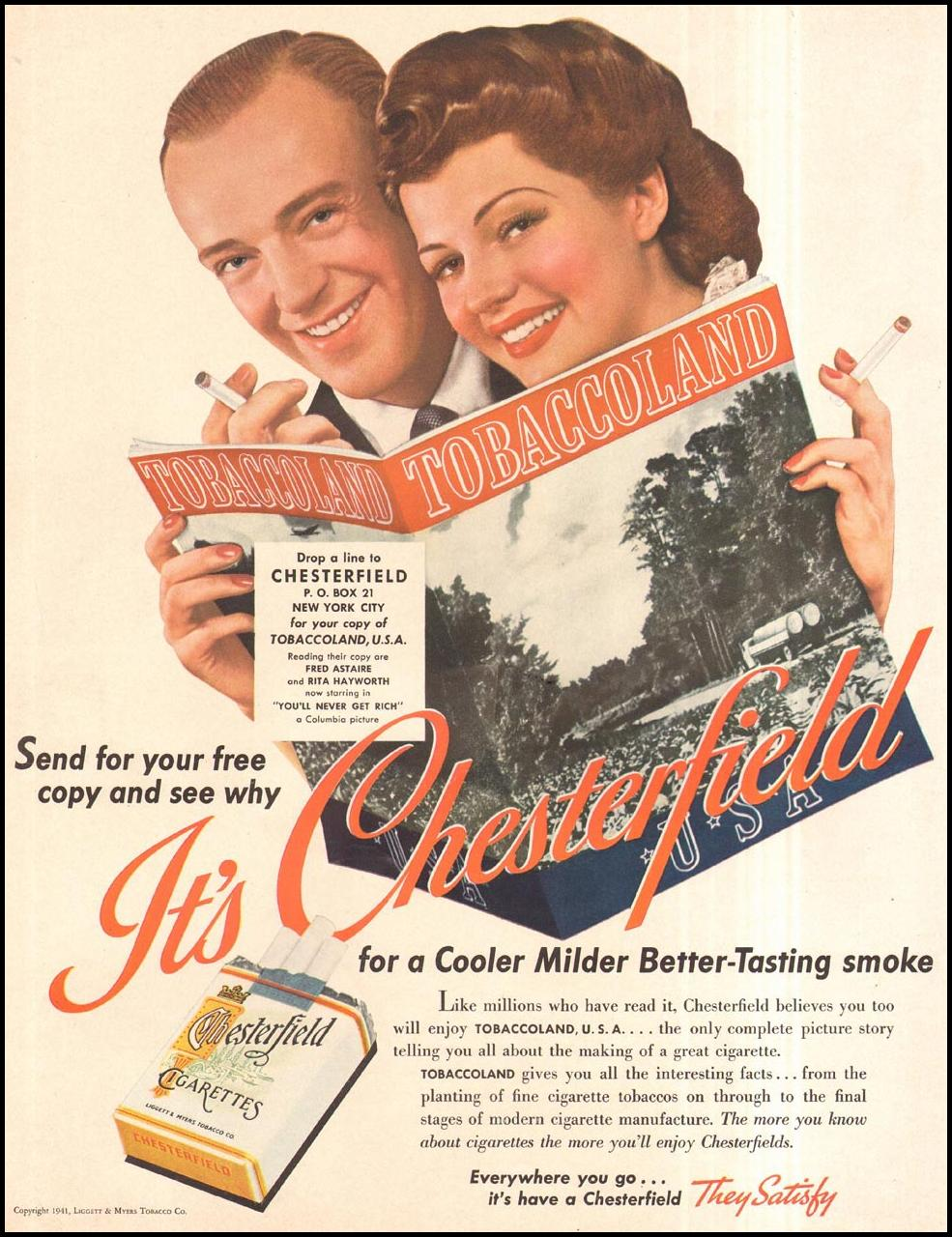 CHESTERFIELD CIGARETTES LIFE 09/29/1941 p. 42