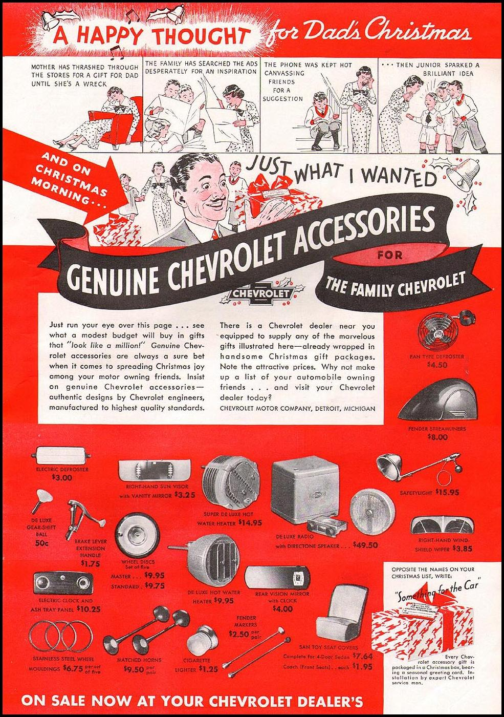 GENUINE CHEVROLET ACCESSORIES GOOD HOUSEKEEPING 12/01/1935 p. 111
