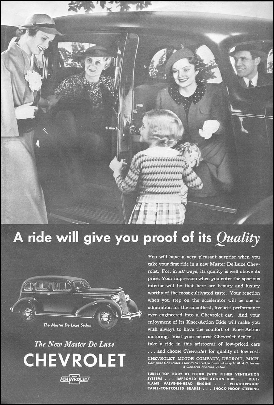 CHEVROLET AUTOMOBILES GOOD HOUSEKEEPING 06/01/1935 p. 147