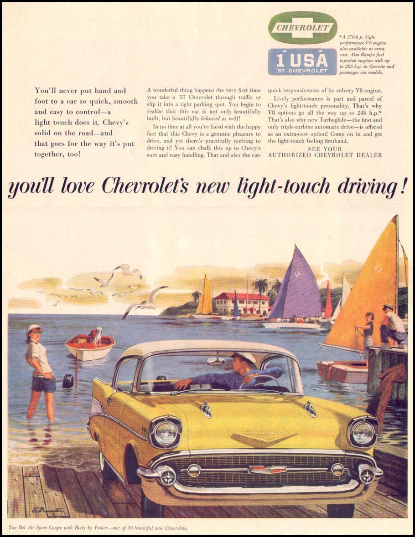 CHEVROLET AUTOMOBILES LIFE 04/08/1957 p. 105