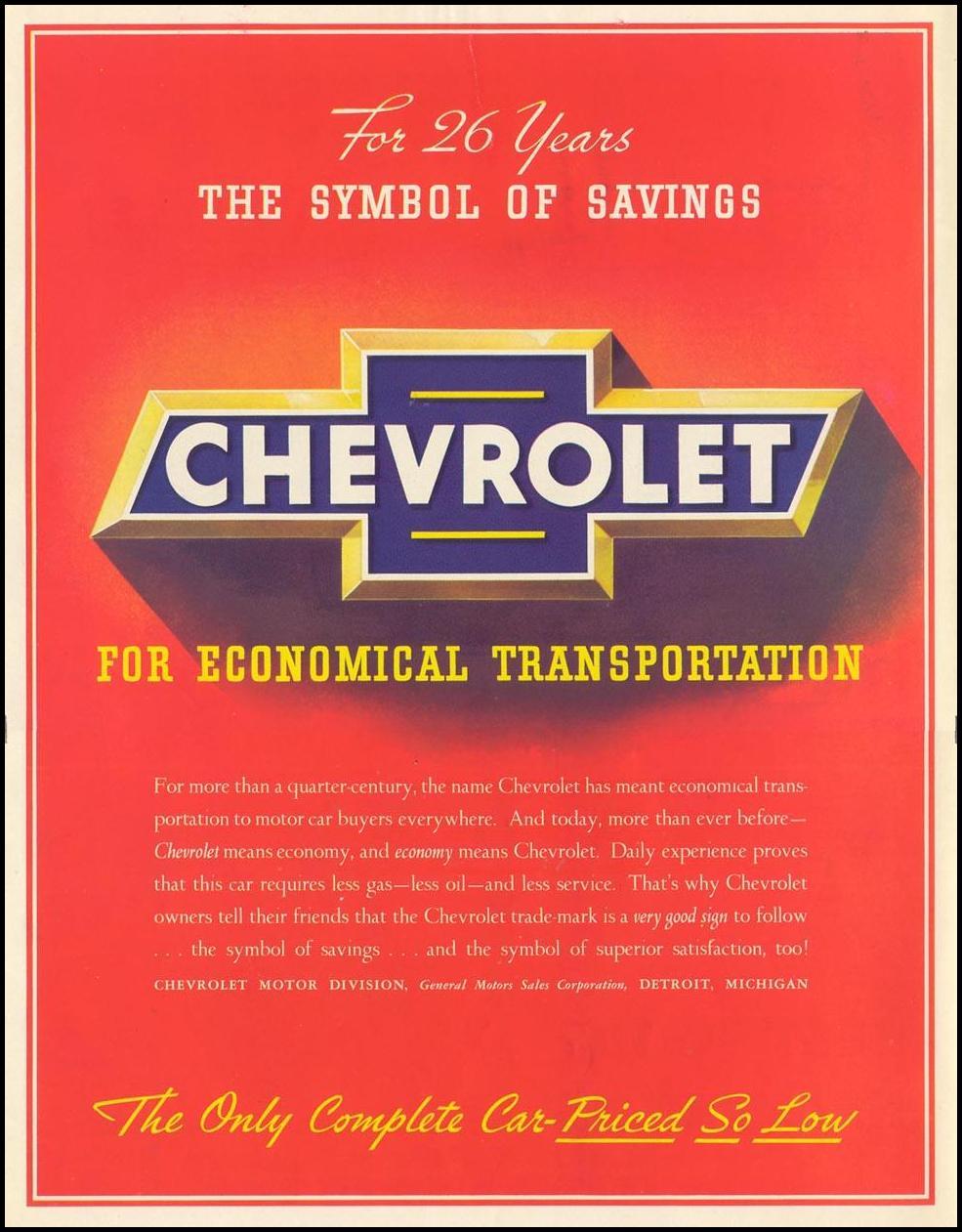 CHEVROLET AUTOMOBILES LIFE 07/26/1937