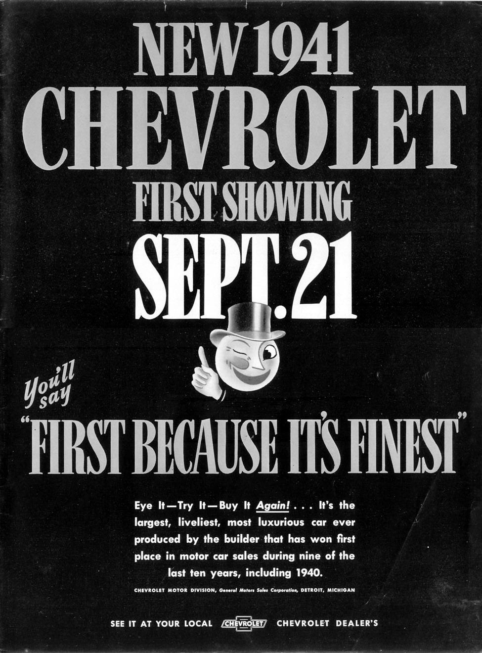 CHEVROLET AUTOMOBILES LIFE 09/16/1940 p. 1