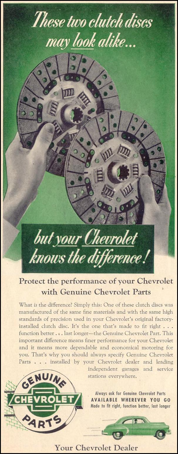 CHEVROLET AUTOMOBILE PARTS LIFE 10/19/1953 p. 12