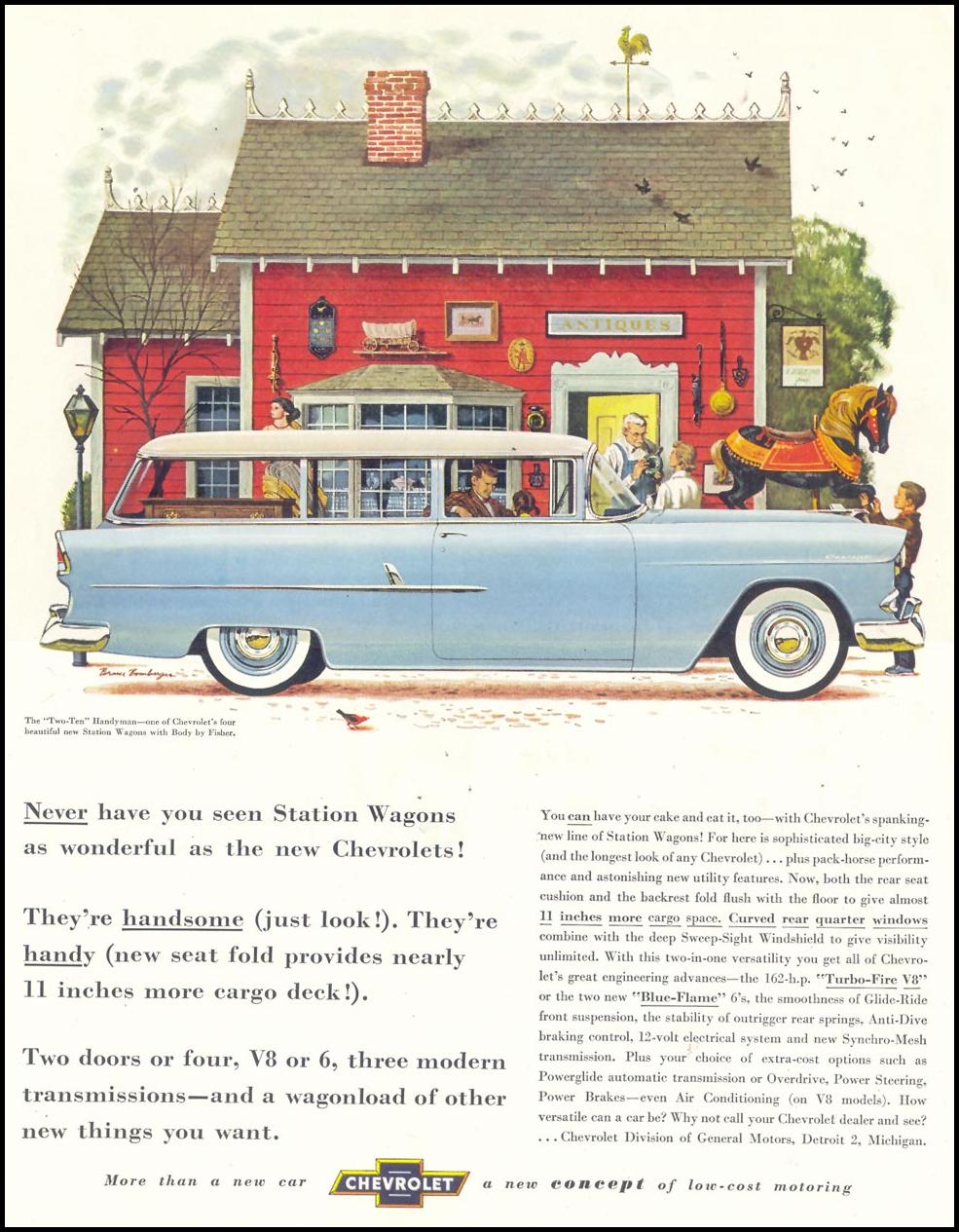 CHEVROLET AUTOMOBILES SATURDAY EVENING POST 02/05/1955