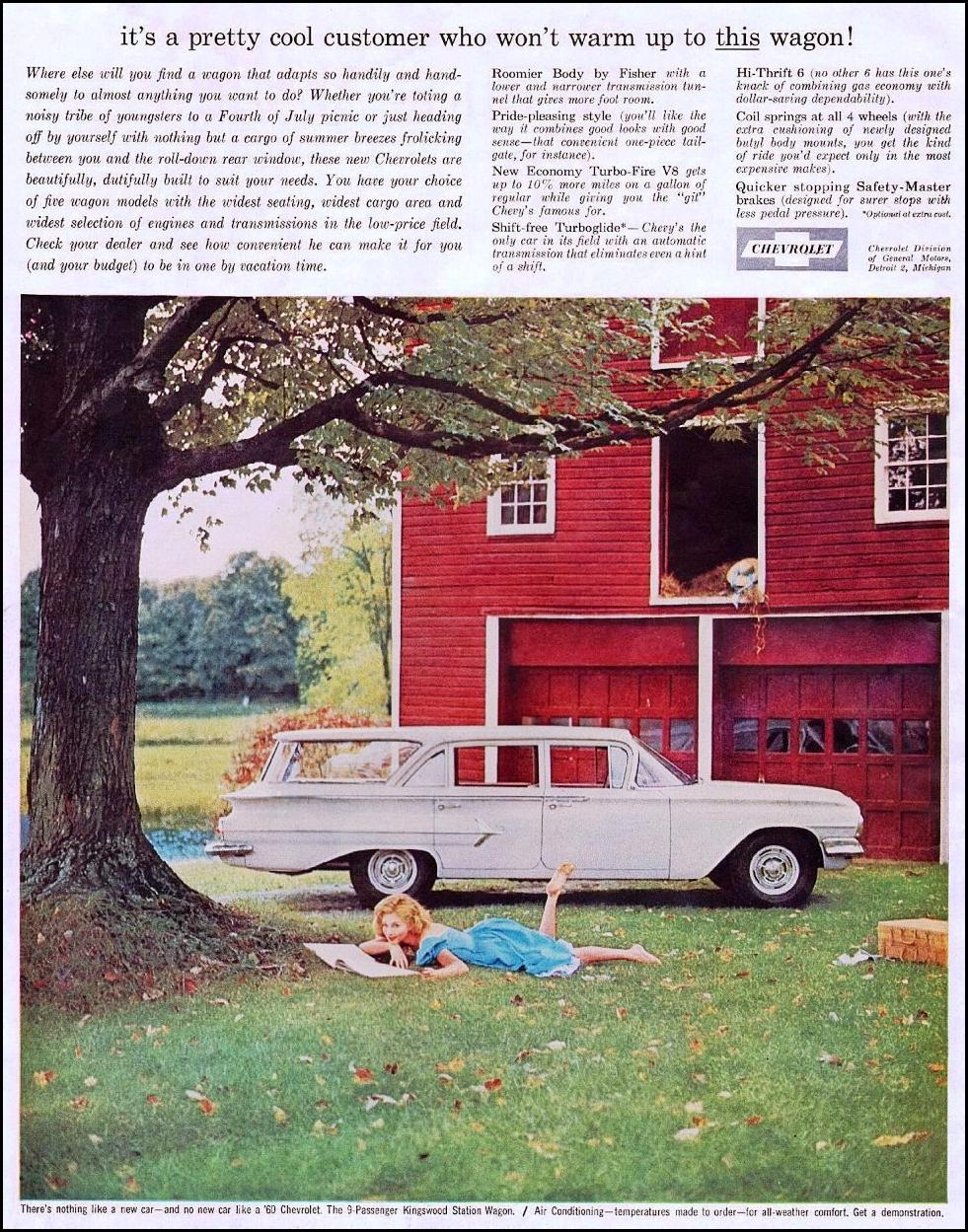 CHEVROLET AUTOMOBILES SATURDAY EVENING POST 06/04/1960