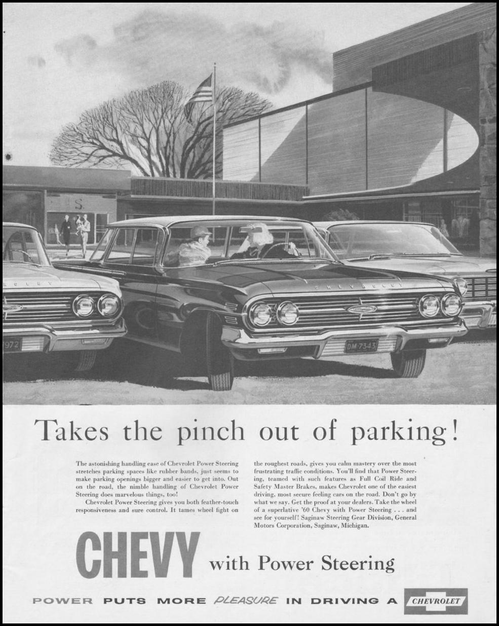 CHEVROLET AUTOMOBILES SATURDAY EVENING POST 06/11/1960 p. 13