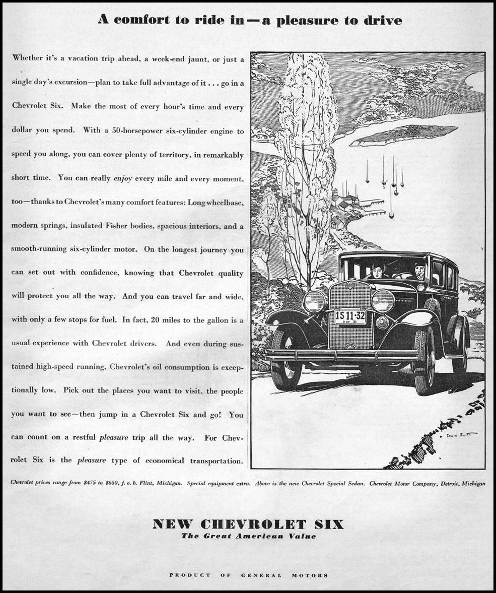 CHEVROLET AUTOMOBILES THE HOME MAGAZINE 05/01/1931 p. 17