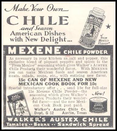 MEXENE CHILE POWDER GOOD HOUSEKEEPING 03/01/1935 p. 219