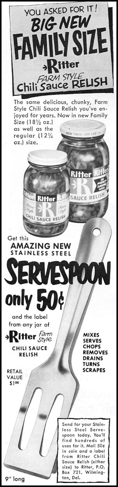 RITTER CHILI SAUCE RELISH FAMILY CIRCLE 02/01/1956 p. 6