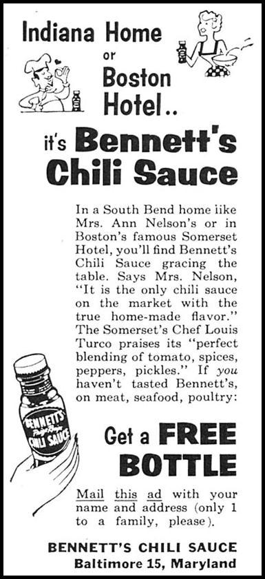 BENNETT'S CHILI SAUCE FAMILY CIRCLE 02/01/1958 p. 4