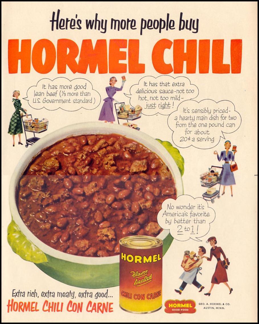 HORMEL CHILI LIFE 10/13/1952 p. 101