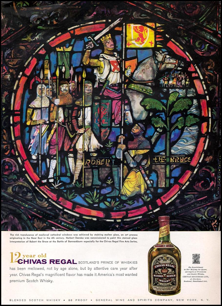 CHIVAS REGAL BLENDED SCOTCH WHISKY SPORTS ILLUSTRATED 04/27/1959 p. 29