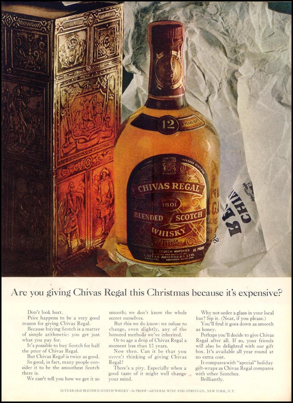 CHIVAS REGAL BLENDED  SCOTCH WHISKY TIME 12/07/1962 p. 61