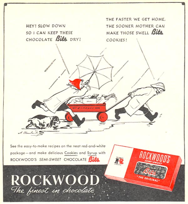 ROCKWOOD CHOCOLATE BITS WOMAN'S DAY 10/01/1946 p. 74
