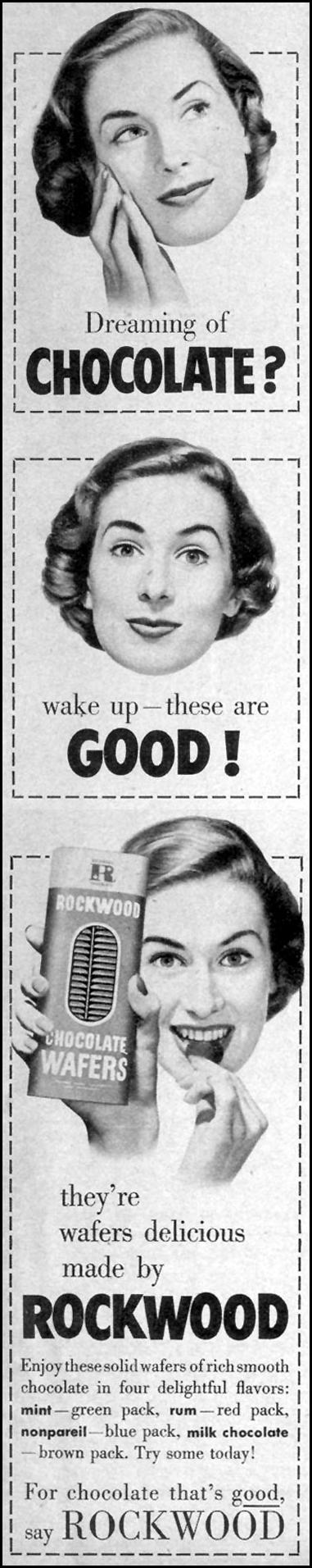 ROCKWOOD CHOCOLATE WAFERS LOOK 12/04/1951 p. 9