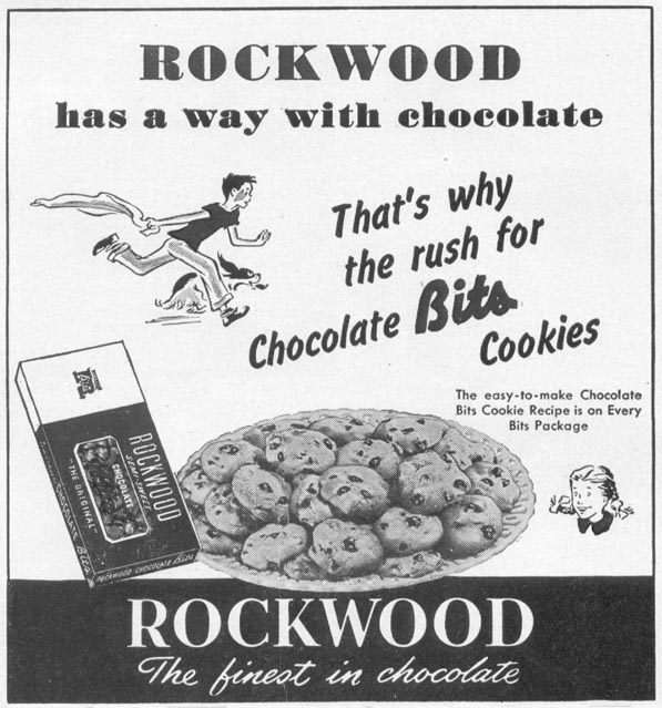 ROCKWOOD CHOCOLATE BITS WOMAN'S DAY 10/01/1949 p. 114