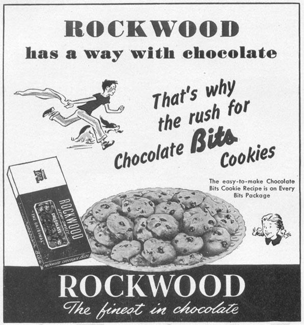 ROCKWOOD CHOCOLATE BITS WOMAN'S DAY 10/01/1949 p. 114