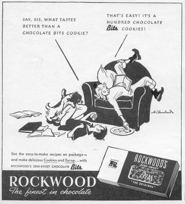 ROCKWOOD CHOCOLATE BITS WOMAN'S DAY 11/01/1945 p. 82