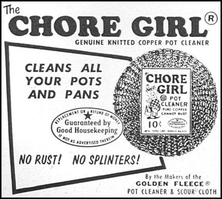 CHORE GIRL KNITTED COPPER POT CLEANER WOMAN'S DAY 09/01/1955 p. 116