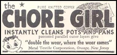 CHORE GIRL KNITTED COPPER POT CLEANER GOOD HOUSEKEEPING 03/01/1935 p. 203