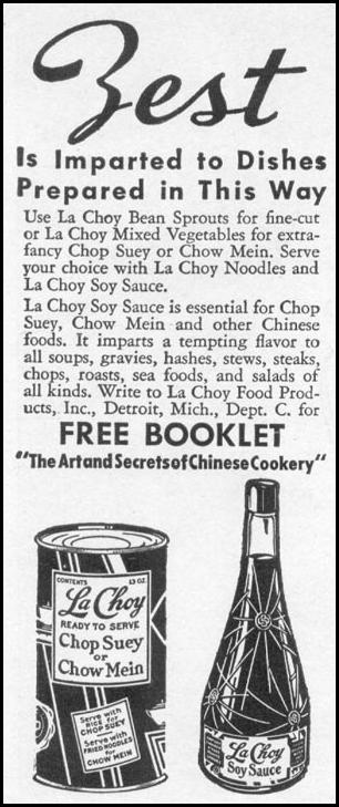 LA CHOY SOY SAUCE WOMAN'S DAY 12/01/1939 p. 50
