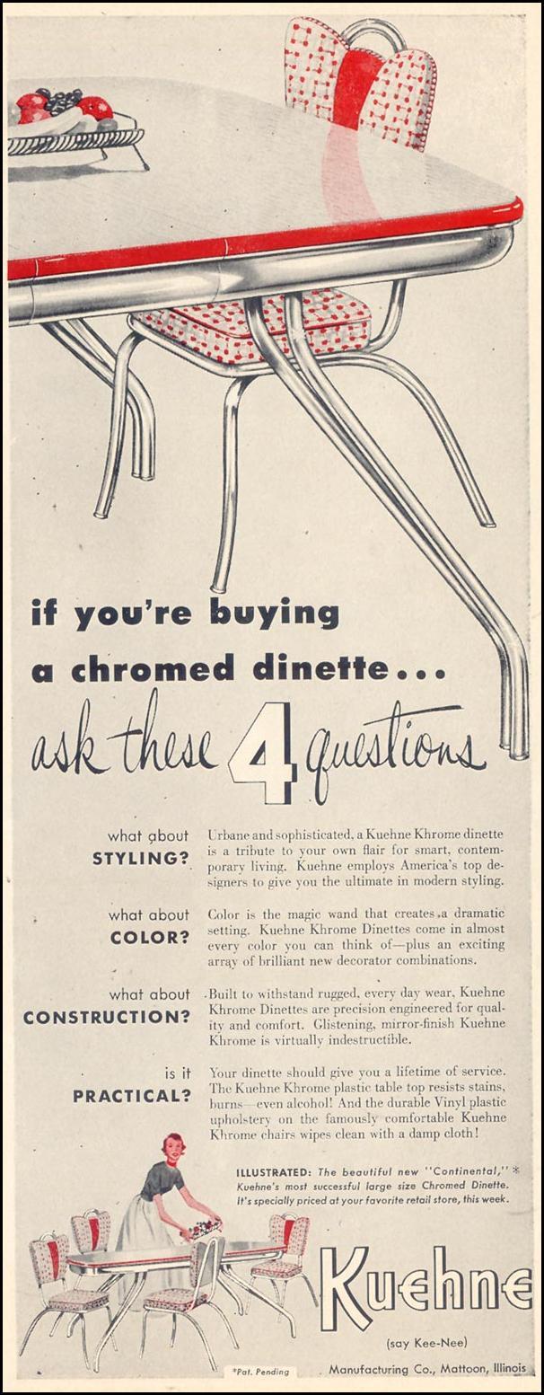 KUEHNE KHROME DINETTES LIFE 04/13/1953 p. 191