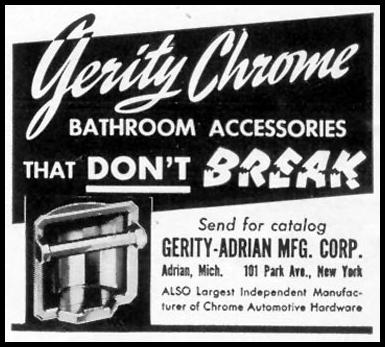 GERITY CHROME BATHROOM ACCESSORIES LIFE 06/23/1941 p. 78