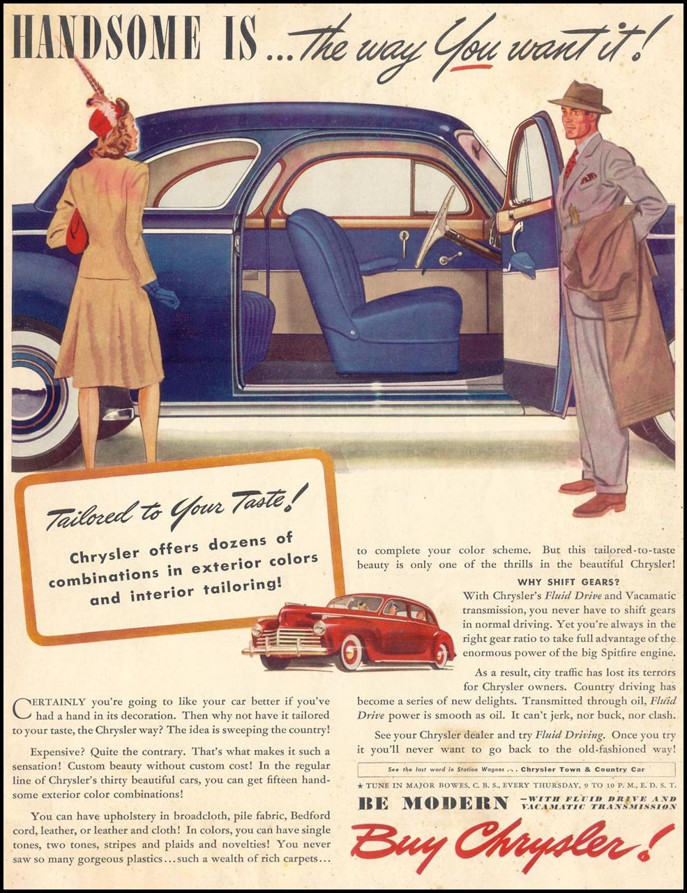 CHRYSLER AUTOMOBILES LIFE 06/23/1941