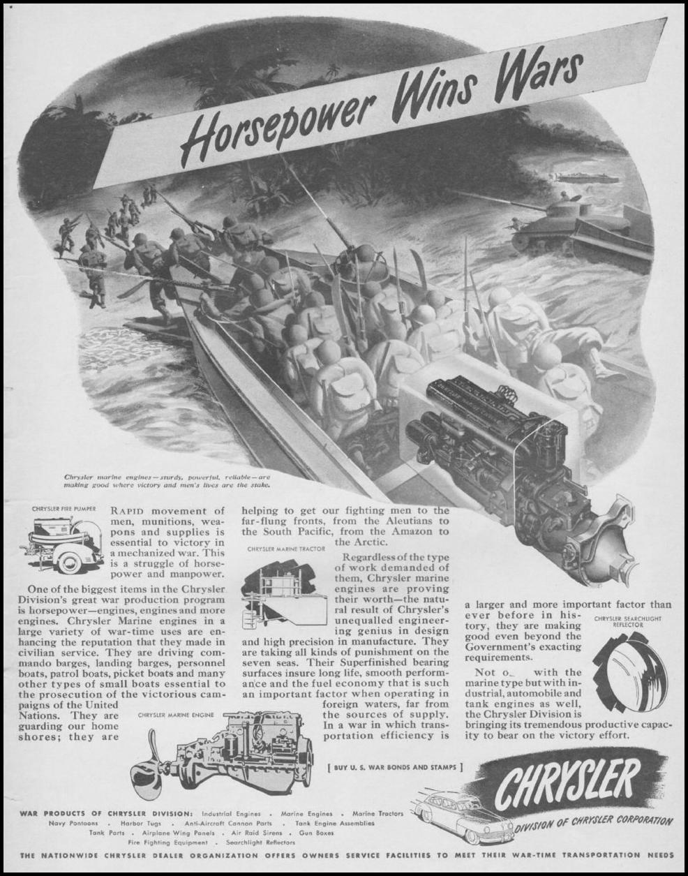 CHRYSLER AUTOMOBILES LIFE 08/09/1943 p. 1