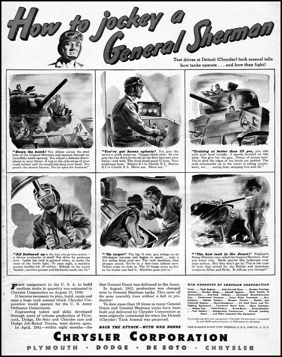 CHRYSLER WARTIME PRODUCTION LIFE 10/11/1943 p. 5