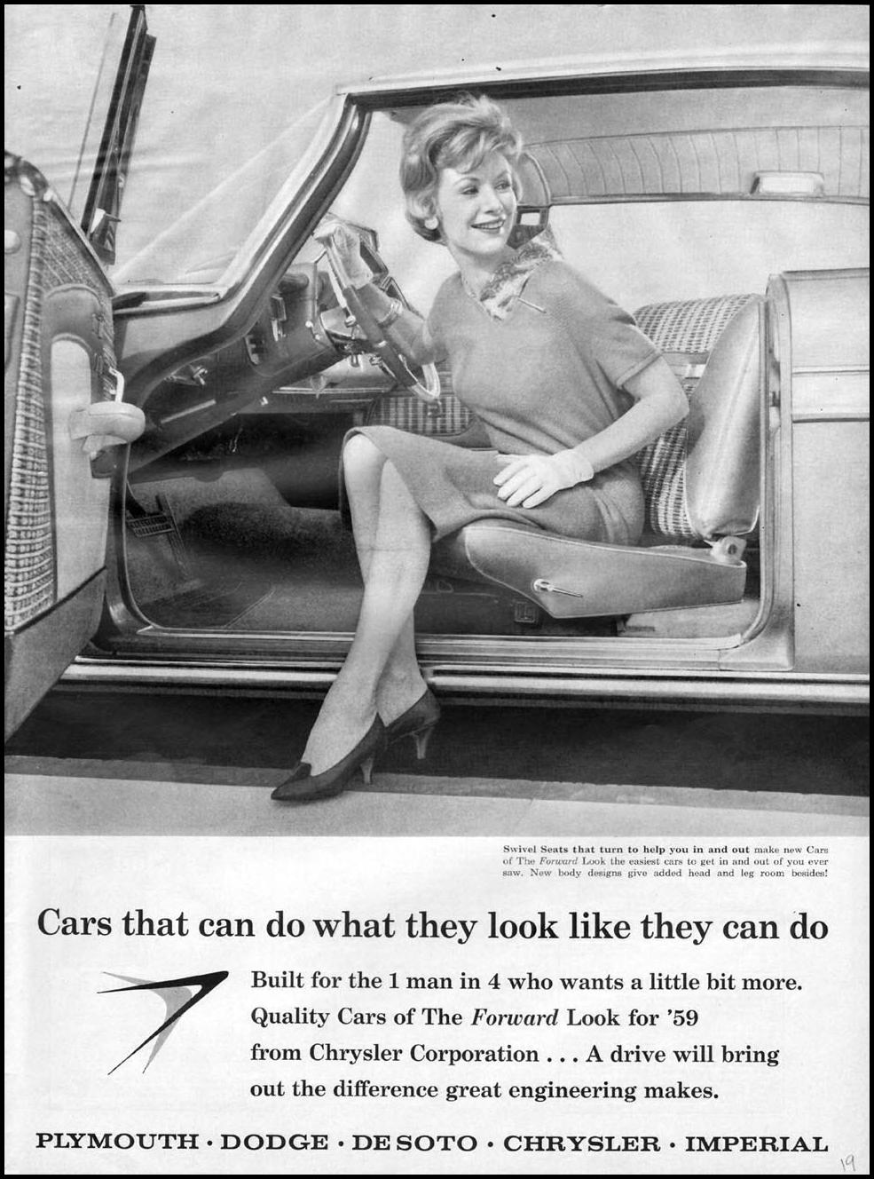 CHRYSLER AUTOMOBILES LIFE 11/24/1958
