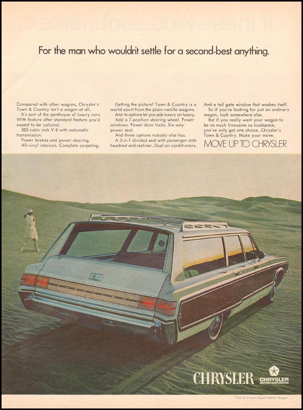 CHRYSLER AUTOMOBILES NEWSWEEK 05/20/1968 p. 57