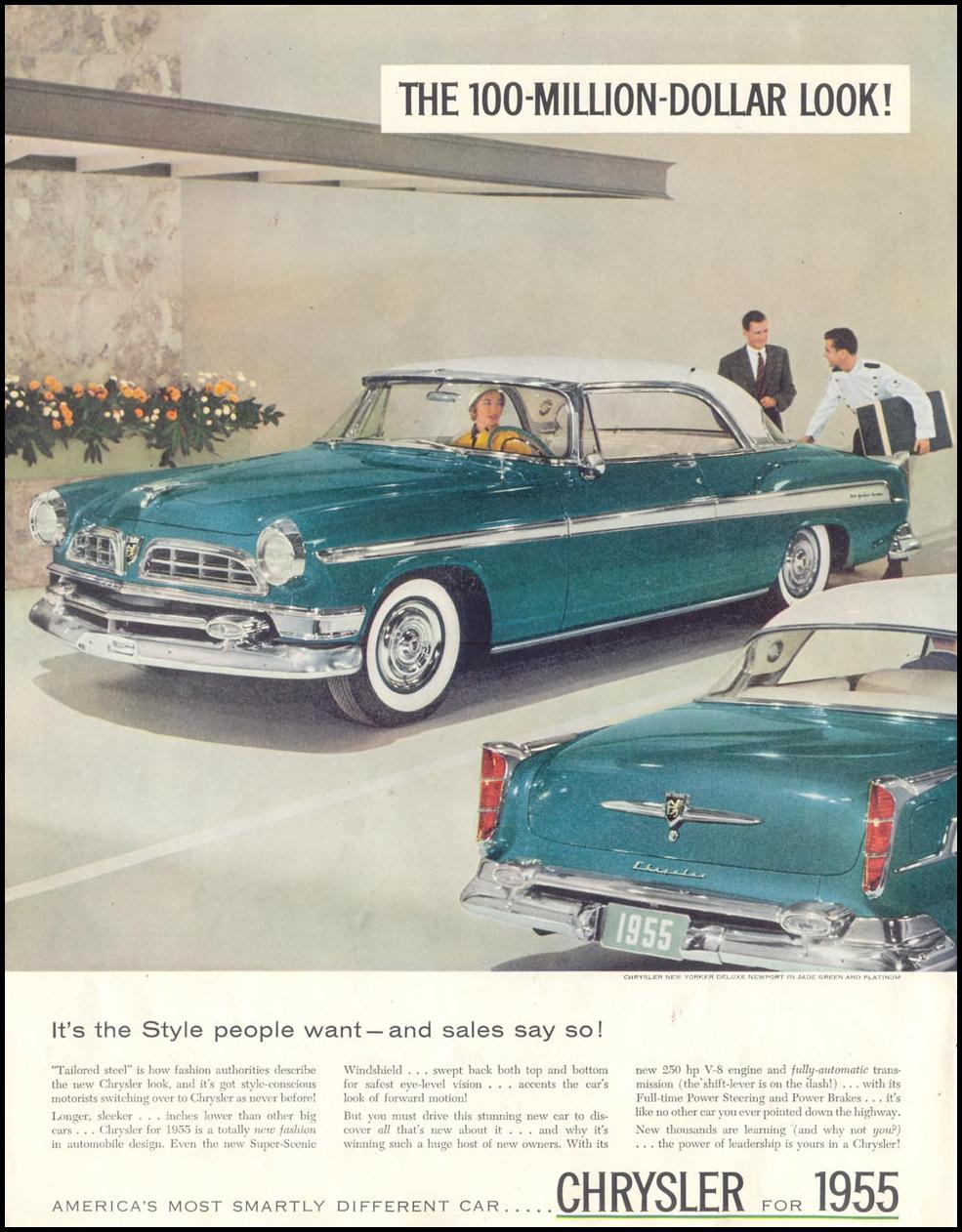 CHRYSLER AUTOMOBILES SATURDAY EVENING POST 02/05/1955