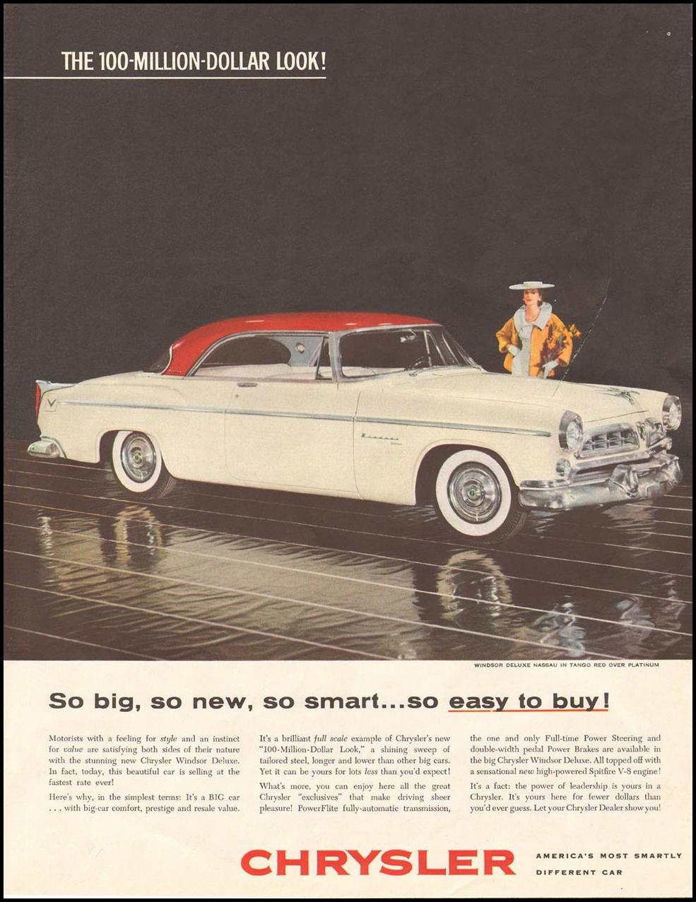 CHRYSLER AUTOMOBILES SATURDAY EVENING POST 03/26/1955 p. 71
