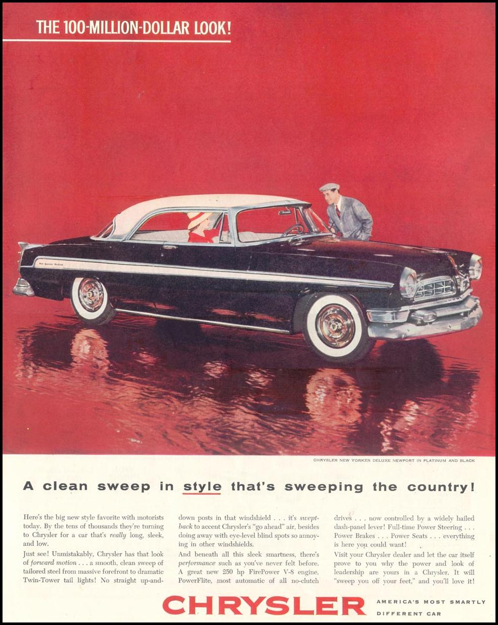 CHRYSLER AUTOMOBILES SATURDAY EVENING POST 04/09/1955