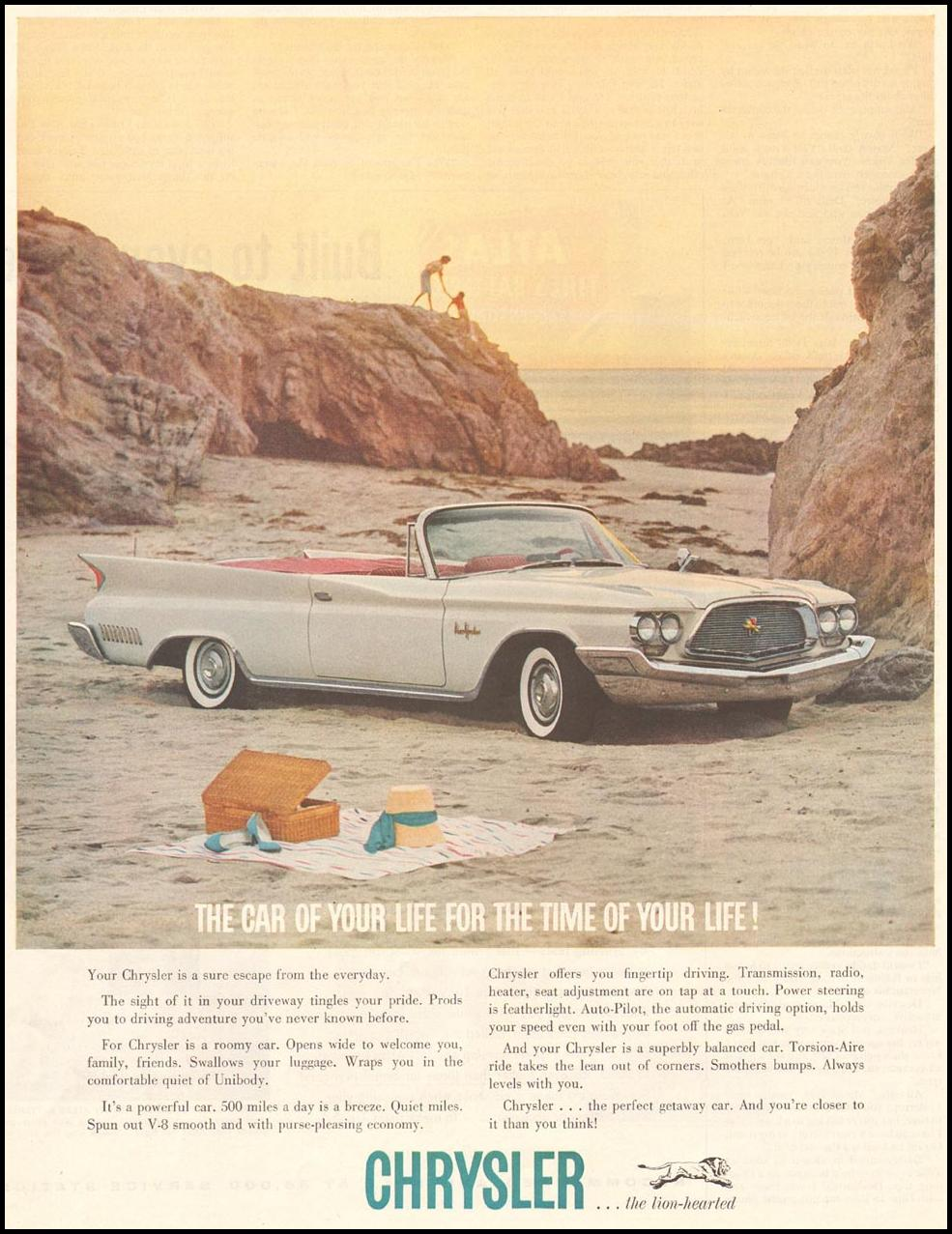 CHRYSLER AUTOMOBILES SATURDAY EVENING POST 06/11/1960 p. 63