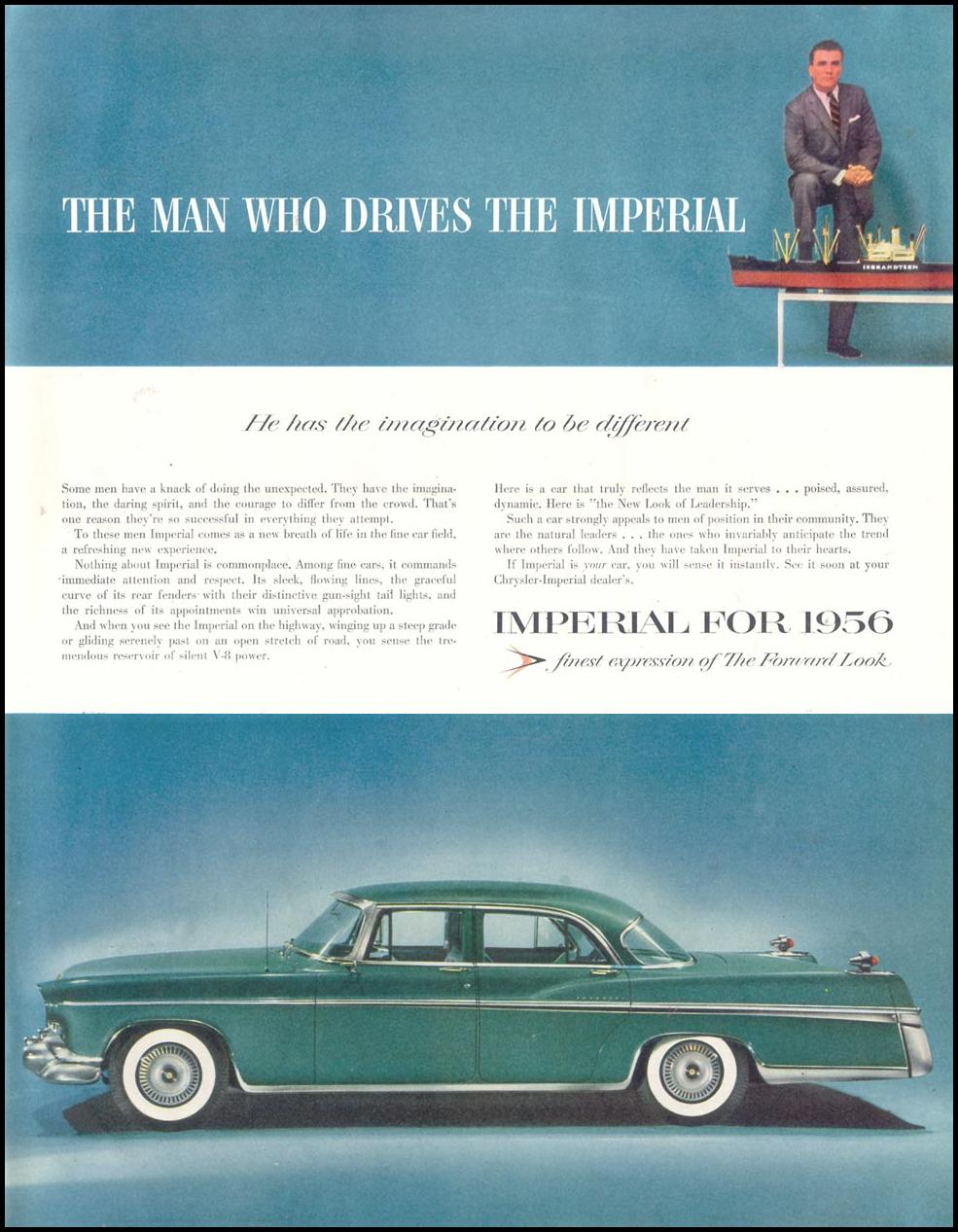 CHRYSLER AUTOMOBILES SATURDAY EVENING POST 12/10/1955