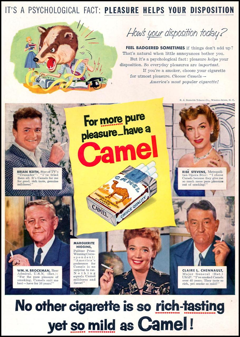 CAMEL CIGARETTES FAMILY CIRCLE 02/01/1956 BACK COVER